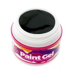 Paint Gel -Żel do zdobień - Czarny - 5ml