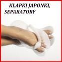 Klapki japonki, separatory
